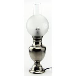 Lampe électrique unie en étain