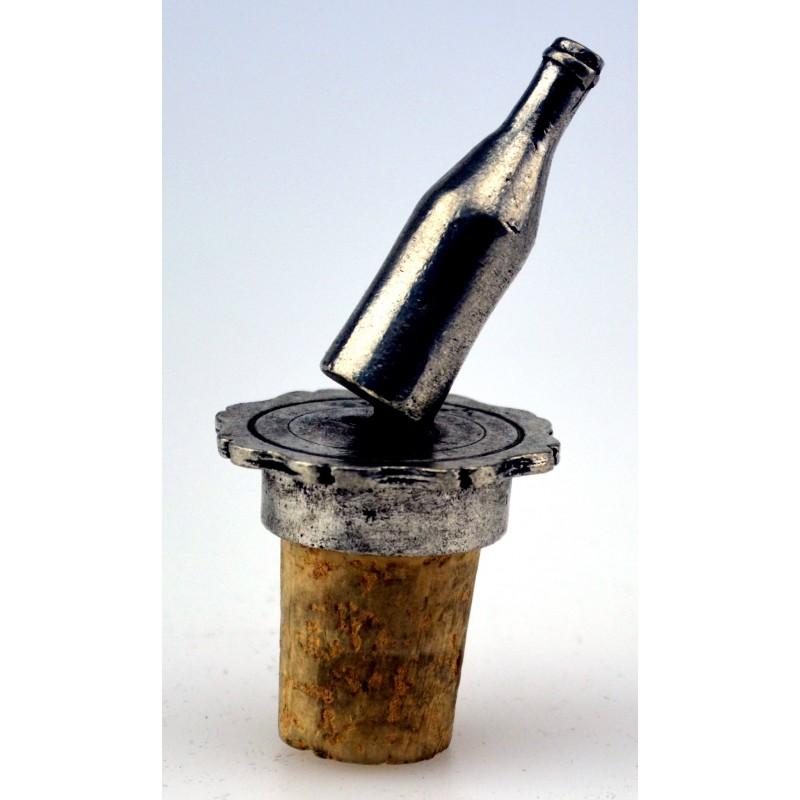 Bouchon bouteille en étain