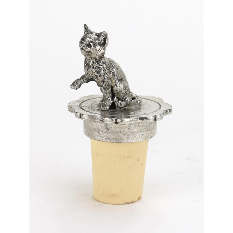 Bouchon chaton en étain