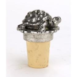 Bouchon tortue en étain