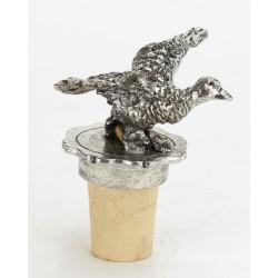 Bouchon canard en vol en étain