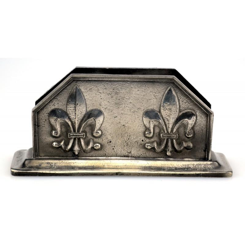 Porte lettre fleur de lys en étain