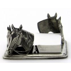Porte papier cheval en étain