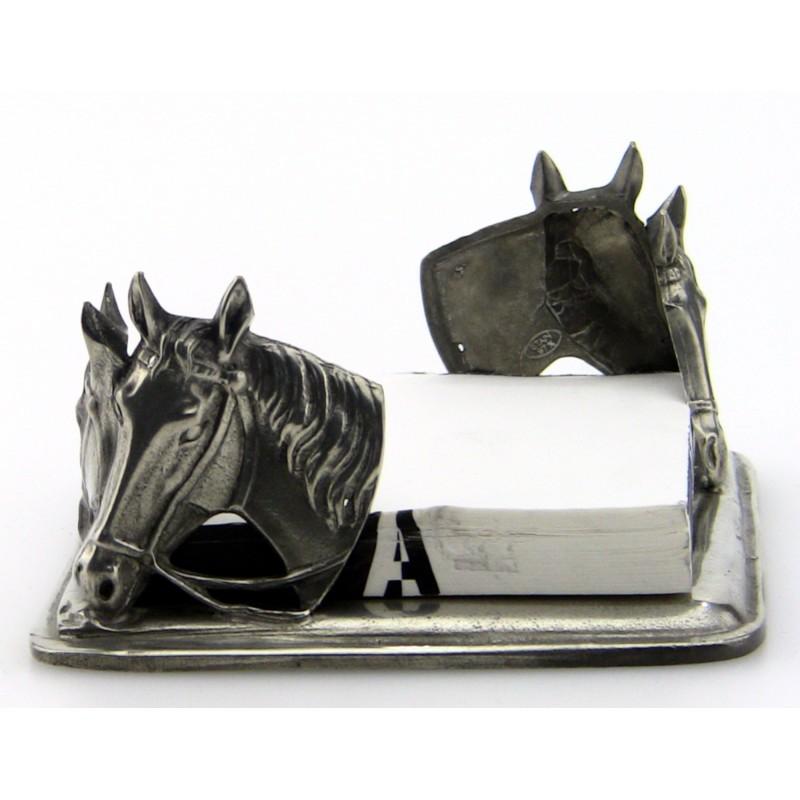 Porte papier décor cheval en étain