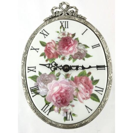 Horloge ovale décor Cindy