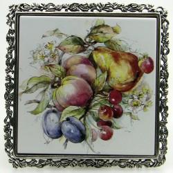 Dessous de plat décor fruits