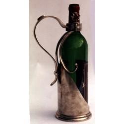Porte bouteille avec poignée en étain