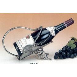 Porte bouteille fantaisie décor raisin en étain
