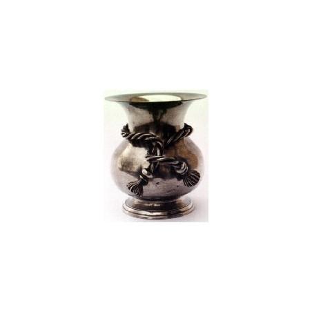 Vase décor noeud petit modèle en étain
