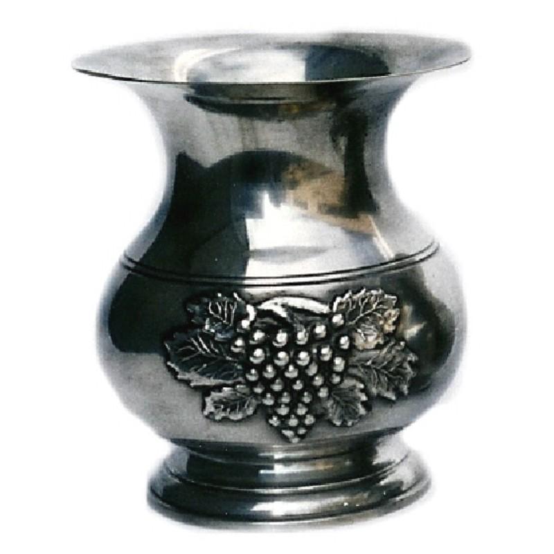 Vase décor raisin moyen modèle en étain