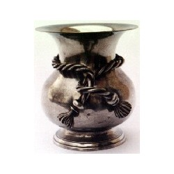 Vase décor noeud très grand modèle en étain