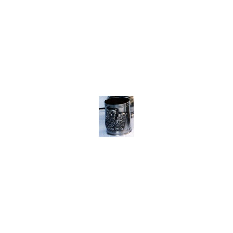 Pot à crayon chouette en étain