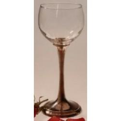 Verre à vin blanc avec pied en étain