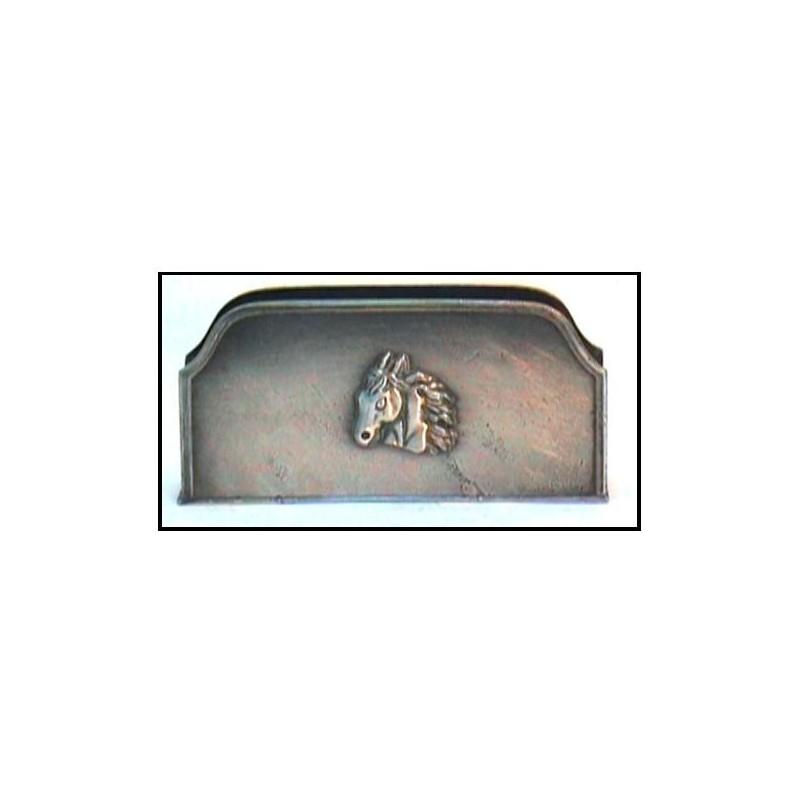 Porte lettre cheval en étain