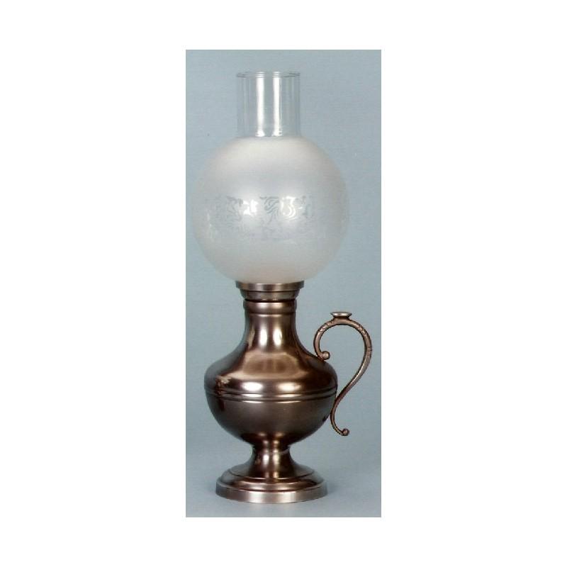 Lampe électrique avec anse en étain