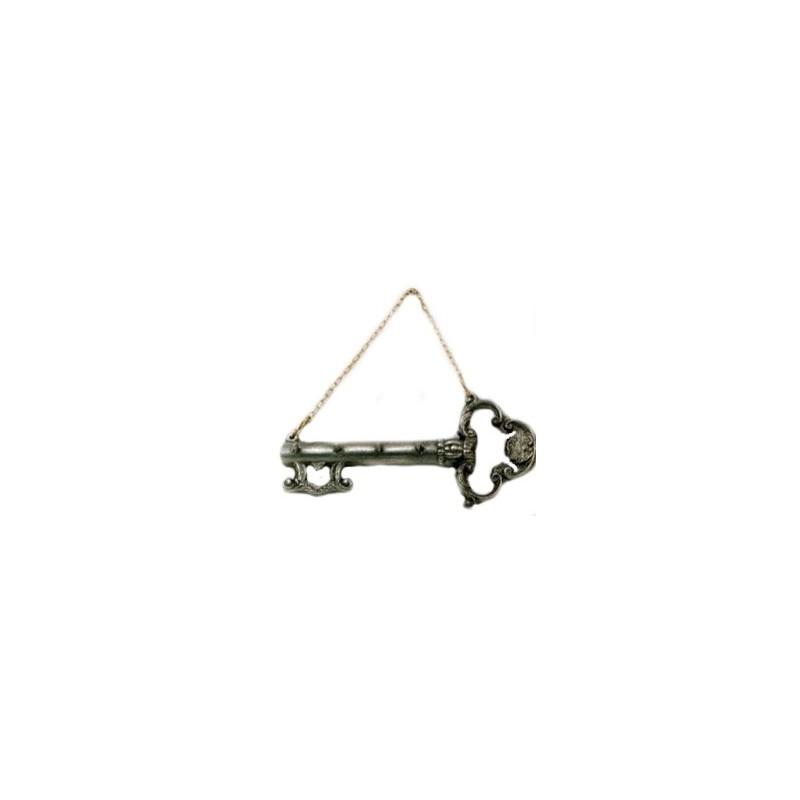 Accroche clef décor clef en étain