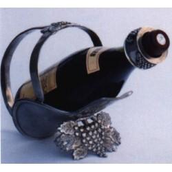 Porte bouteille décor raisin en étain