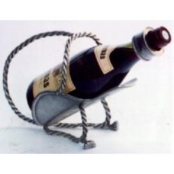 Porte bouteille corde en étain