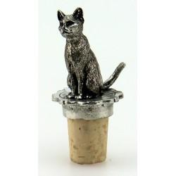 Bouchon chat en étain